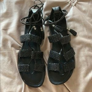 Michael Korn Leather Wrap Sandal